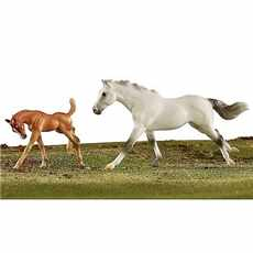 BREYER KONĚ RACING THE WING THOROUGHBRED AND FOAL