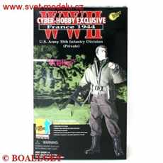 U. S.  ARMY 35TH INFANTRY DIVISION PRIVATE FRANCE 1944